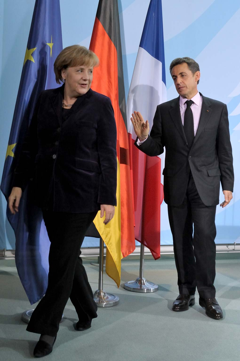Angela Merkel, Chancellor of the Federal Republic of Germany, and Nicolas Sarkozy, President of the French Republic (Berlin, 2012). Photo © Aris Fotografie