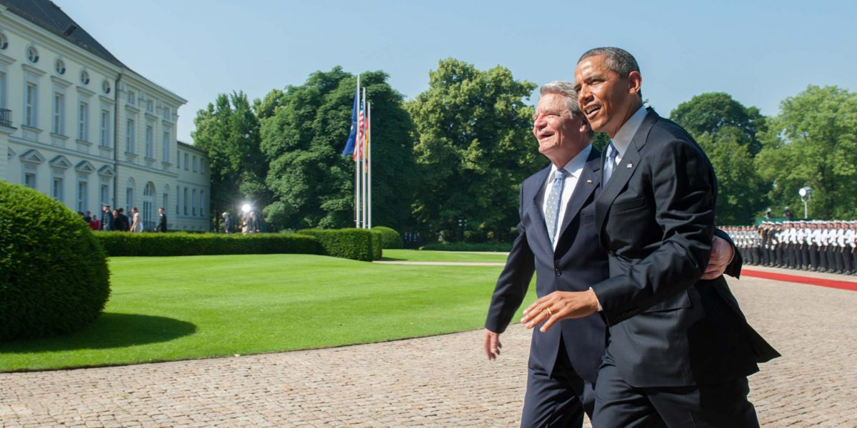 Joachim Gauck, President of Germany and Barack Obama, President of the United States of America (Schloss Bellevue, Berlin, 2013).  Photo © Aris Fotografie