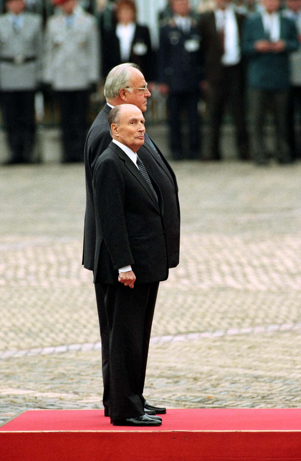 Francois Mitterand, President of the French Republic, and Helmut Kohl, Chancellor of the Federal Republic of Germany (Berlin, 1990). Photo © Aris Fotografie