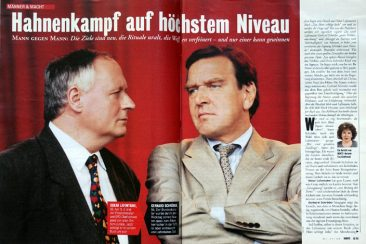 Oskar Lafontaine and Gerhard Schröder, BUNTE 47/1999