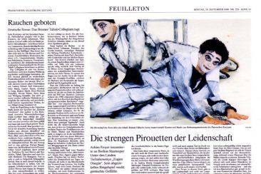 """""""Eugen Onegin"""", opera, Frankfurter Allgemeine Zeitung 29.09.2008"""