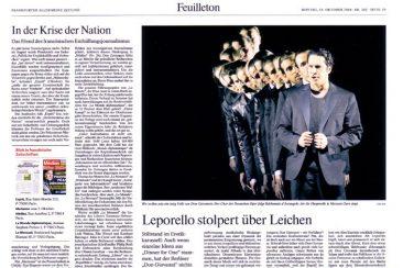 """""""Don Giovanni"""", opera, Frankfurter Allgemeine Zeitung 18.10.2010"""
