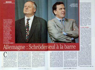 Oskar Lafontaine and Gerhard Schröder, Le Point, 1383/1999 (France)