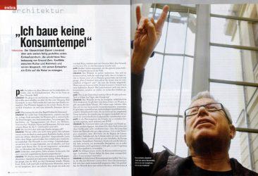 Daniel Libeskind, architect, profil 48/2008 (Austria)