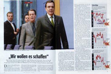 Gerhard Schröder, Federal Chancellor, DER SPIEGEL 07/2004