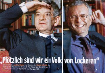 Joschka Fischer and Harald Schmidt, SPIEGEL Reporter 11/1999