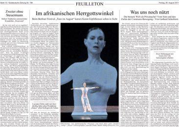Lucinda Childs Dance Company, Süddeutsche Zeitung 26.08.2011