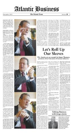 Jürgen R. Thumann, BDI, The Atlantic Times 12/2005 (Germany)