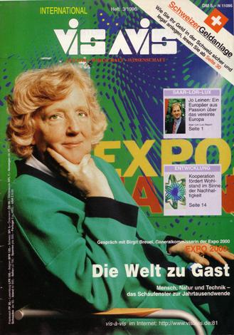 Birgit Breuel, EXPO 2000, Vis-a-Vis 03/1996