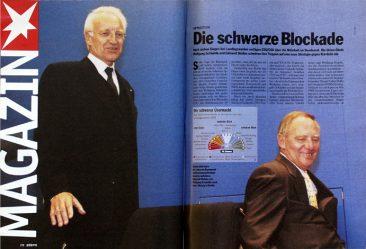 Edmund Stoiber and Wolfgang Schäuble, stern 43/1999