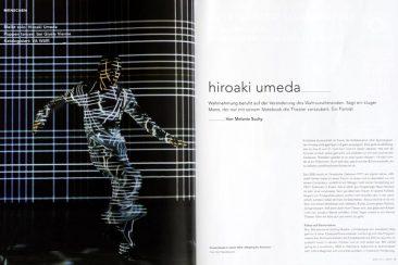 Hiroaki Umeda, dancer, Tanz 03/2011